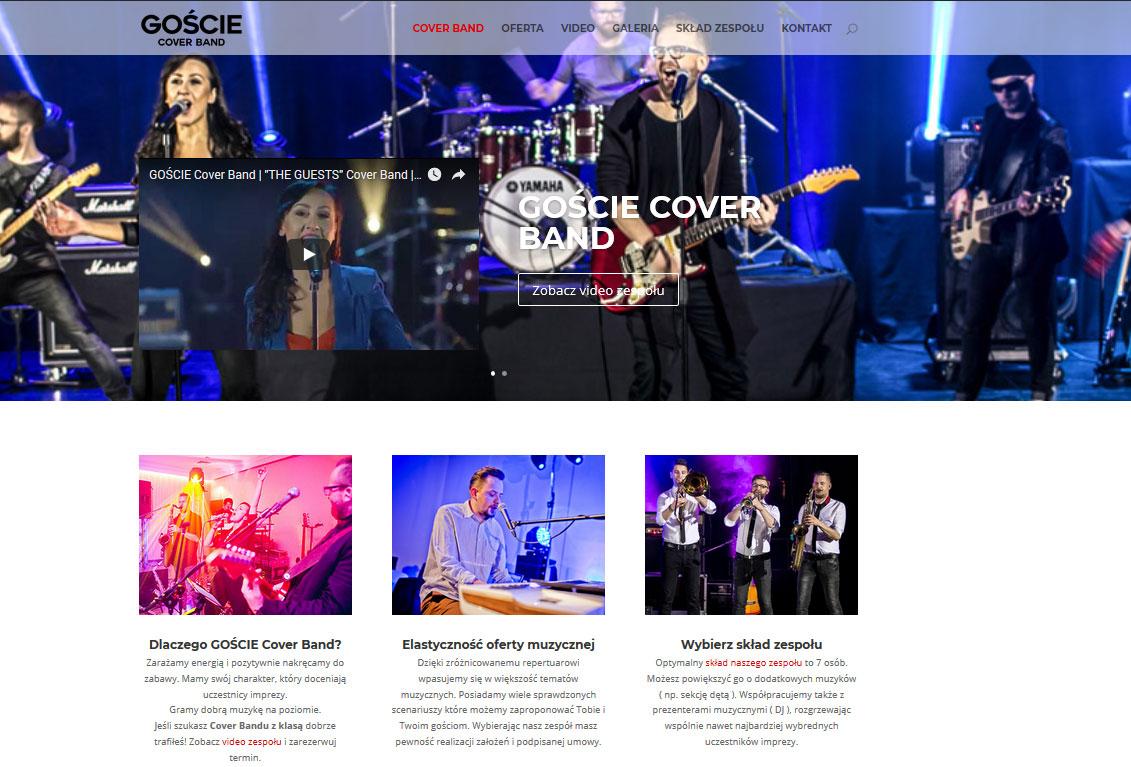 Zrzut ekranu www GOŚCIE Cover Band